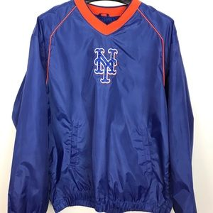 Blue New Your Mets Large Polyester pullover
